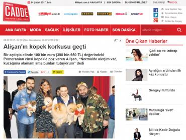 Milliyet – Alişan got over his fear of dogs