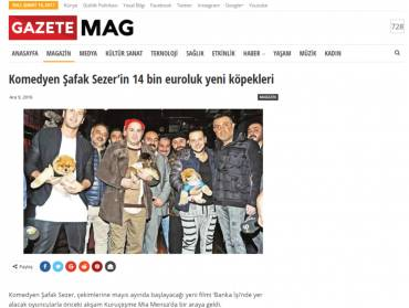 Gazete Mag – €14 thousand worth dogs of comedian Şafak Sezer