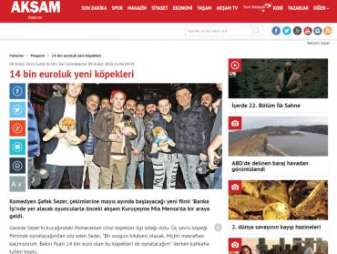 Akşam News – Their new dogs worth €14,000