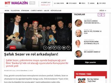 HT-Magazin Şafak Sezer and costars!