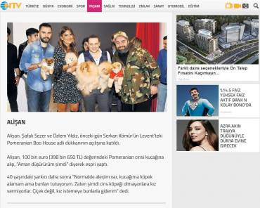 Ntv Yaşam – Alişan got over his fear of dogs